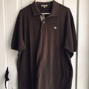 Vintage Burberry men's polo size xl